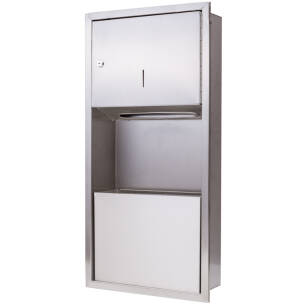 Wall-mount furniture: paper dispenser and bin 9l SN M