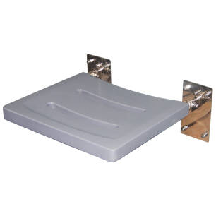Folding shower seat for disabled people with a polyurethane platform
