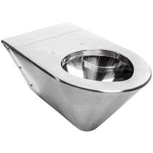 Stainless steel wall-mounted pan for disabled