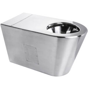 Stainless steel toilet pan for disabled