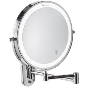 Hotel and bathroom magnifying mirror Como LED