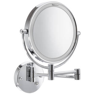 Hotel and bathroom magnifying mirror Garda LED